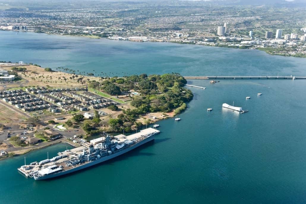 USS Missouri & Arizona Memorial at Pearl Harbor