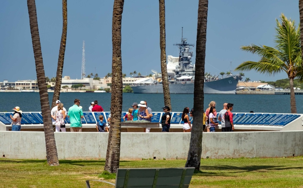 Pearl Harbor Visitor Center Harbor Walkway and USS Missouri Oahu