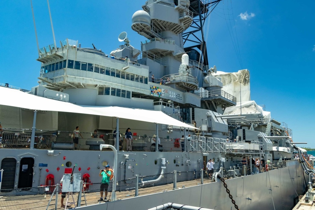 USS Missouri View from Gangway Pearl Harbor Oahu