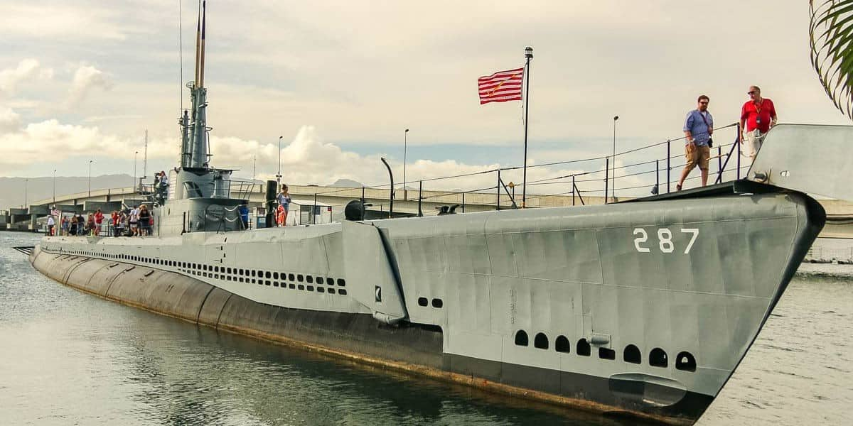 Bowfin Submarine Docked at Pearl Harbor Station