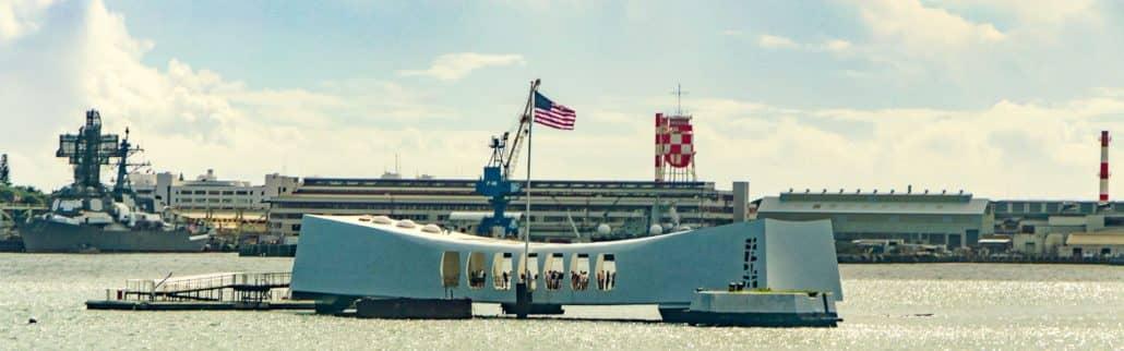 USS Arizona Memorial Bridge View