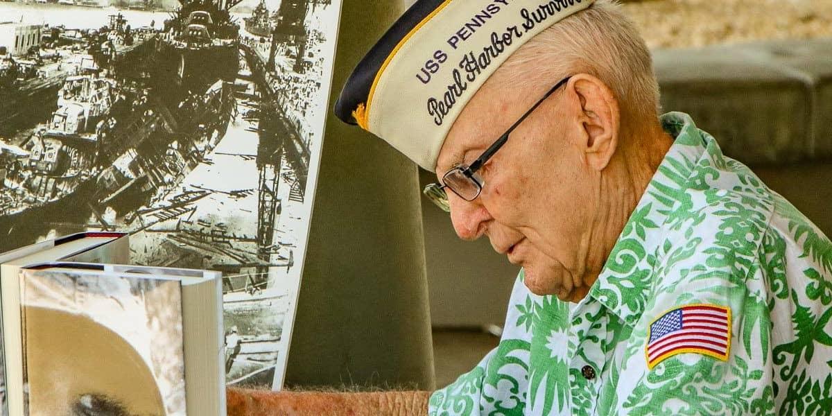 Veteran at Survivor's Desk