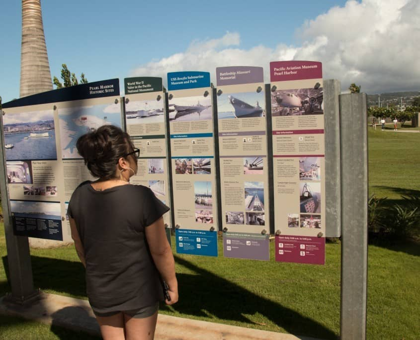 Pearl Harbor Facts & Information Board