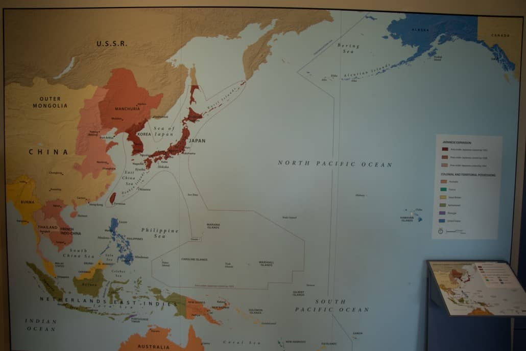 Map Of The Pacific Conflict In World War II