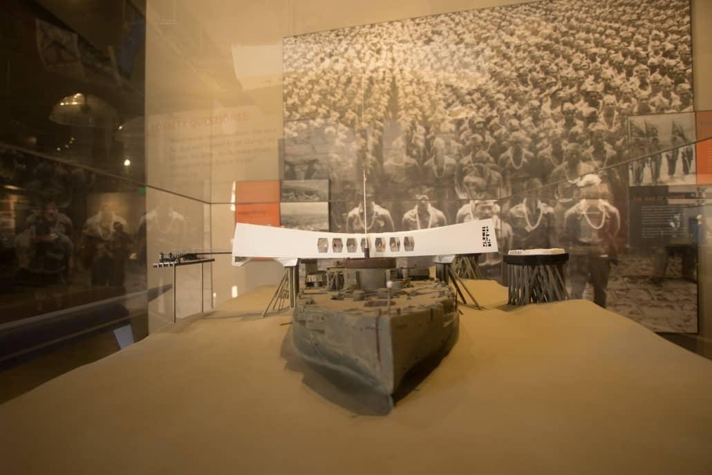 Model Of the USS Arizona In Museum
