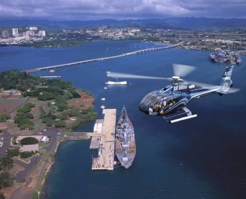 Pearl Harbor Tickets and Oahu Helicopter Tour Fly Drive