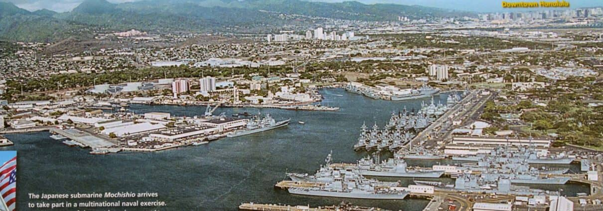 Military Ships docked at Pearl Harbor