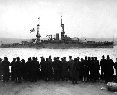 USS Arizona in 1918
