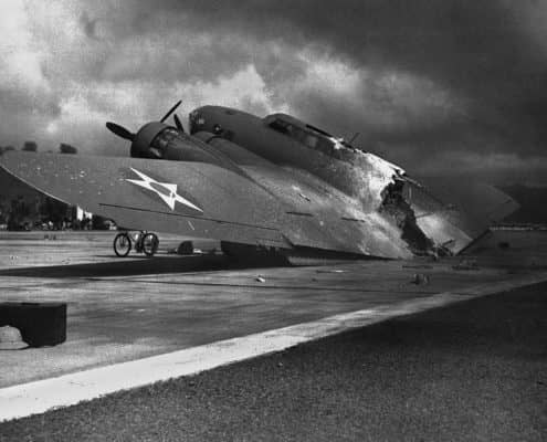 Destroyed American Plane During Pearl Harbor Attack