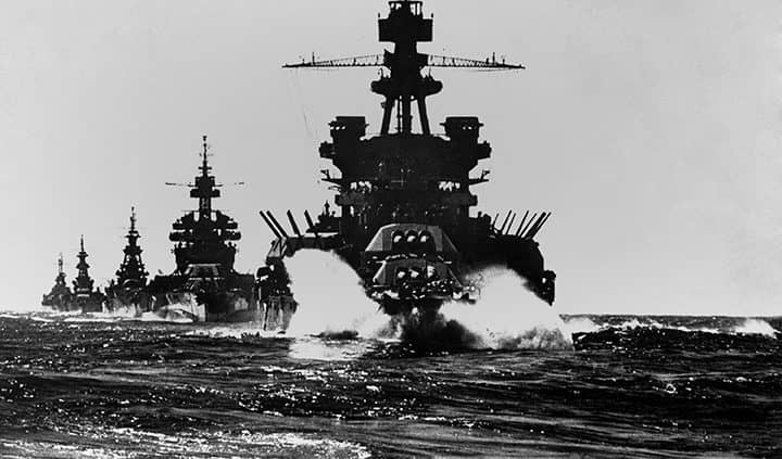 USS Pennsylvania Battleship Underway