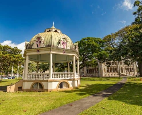 Band Stand at Iolani Palace Grounds