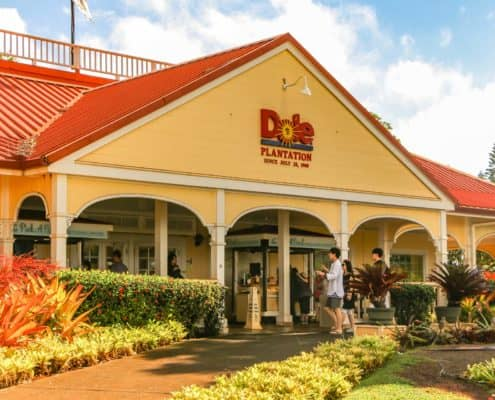 Dole Plantation Building Entrance side view