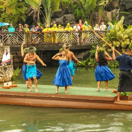 Hawaiian Canoe Dancers at Polynesian Cultural Center