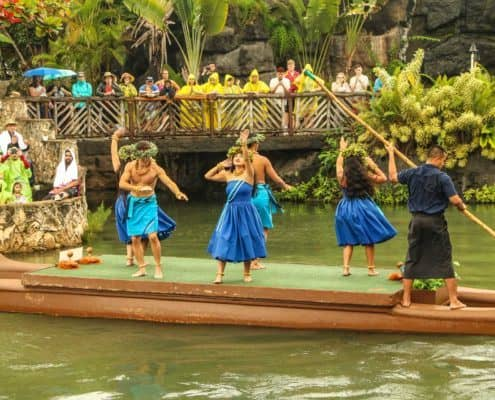 Hawaiian Canoe Pageant Dancers