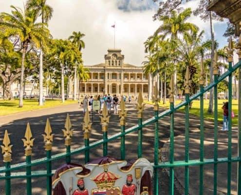 Iolani Palace Gates