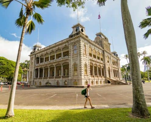 Iolani Palace in Honolulu Hawaii