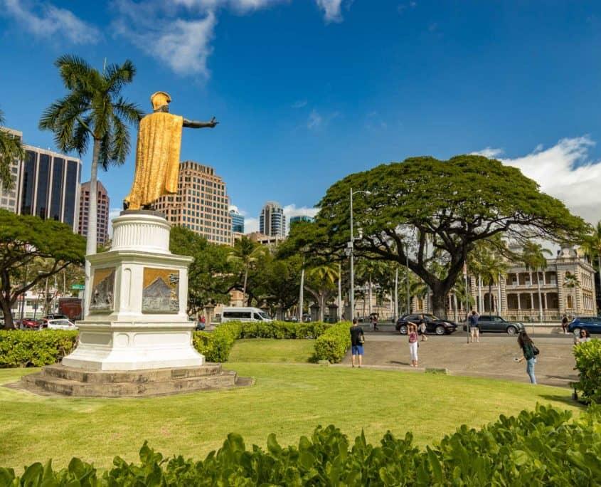 Kamehameha Statue at Iolani Palace