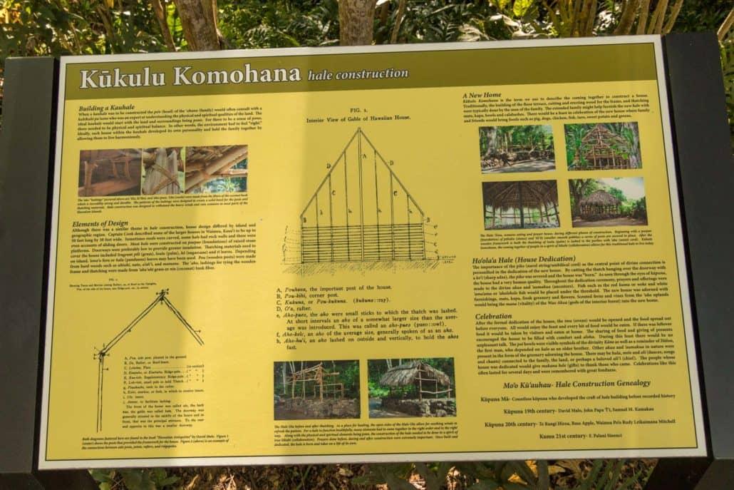 Kukulu Komohana Hale Construction Information Poster