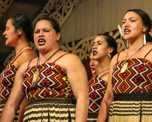 Maori Performers Sing at Polynesian Cultural Center Oahu