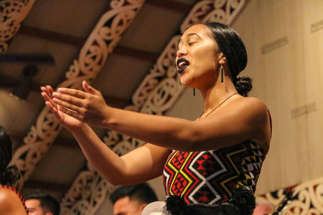 Maori Singer at Polynesian Cultural Center