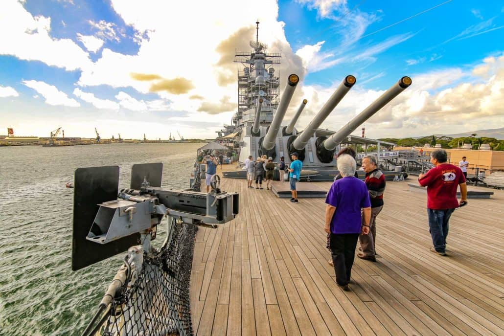Missouri Deck Guns people walking around