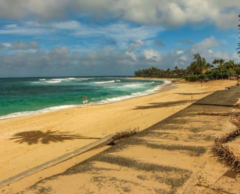 North Shore Beach on Oahu
