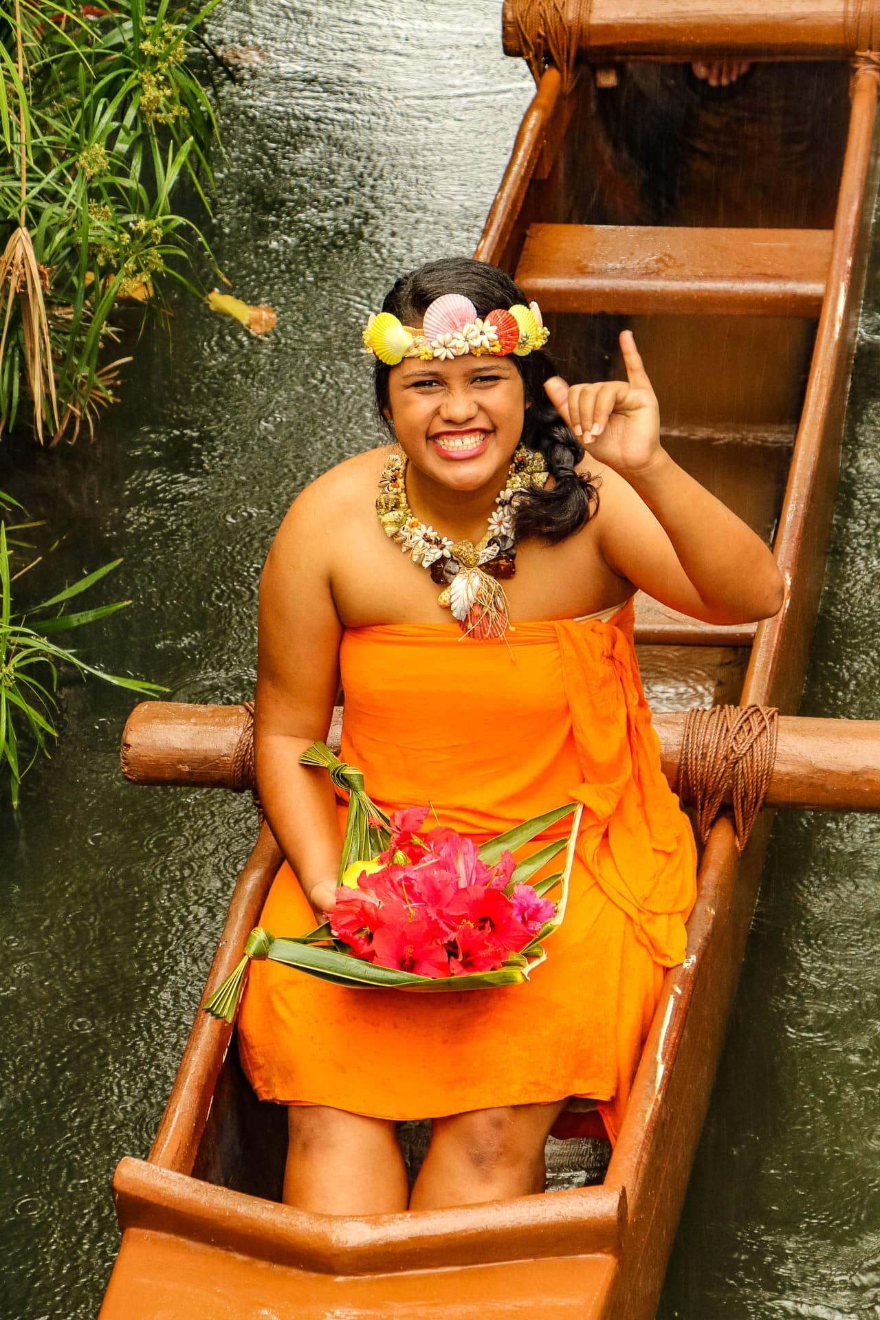 Cultural Performer wearing Orange
