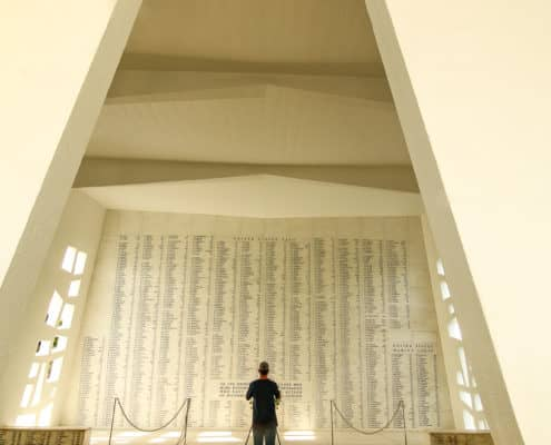Wall of Remembrance at USS Arizona Memorial