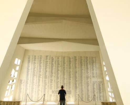 Wall of Remembrance at USS Arizona Memorial