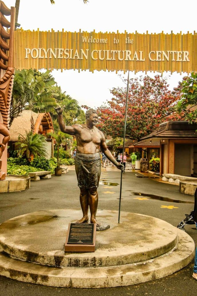 Statue at Entrance of Polynesian Cultural Center