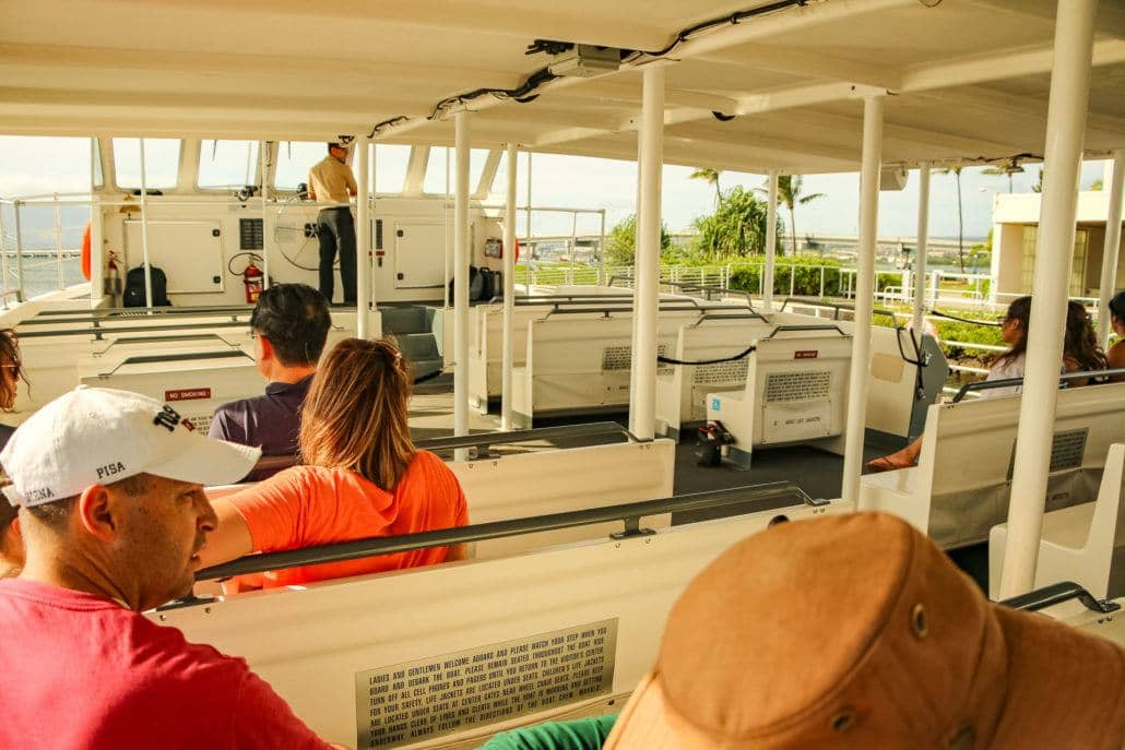 People On Shuttle Boat at USS Arizona Memorial