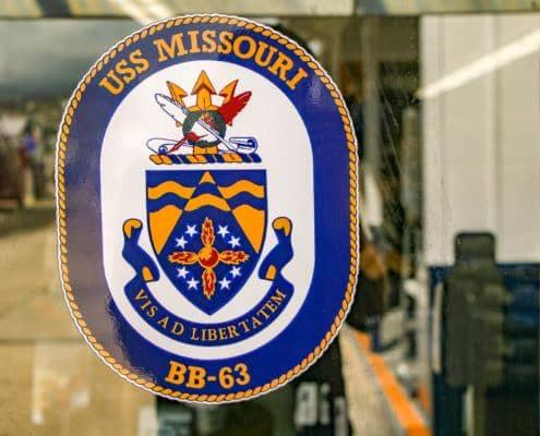 USS Missouri Crest