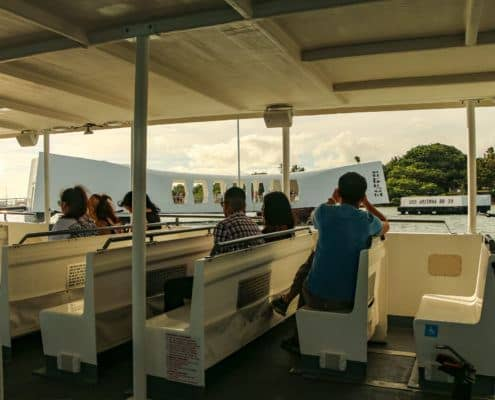 Pearl Harbor Visitors on Boat Ride