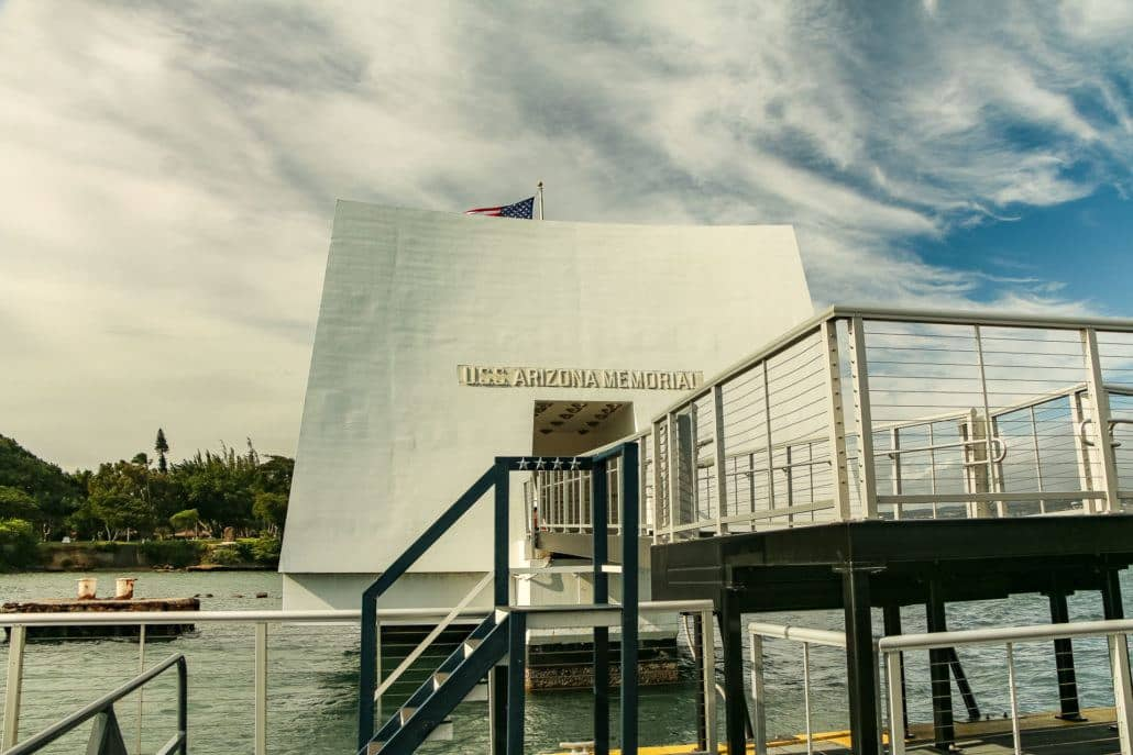 Walkway into Arizona Memorial Entrance