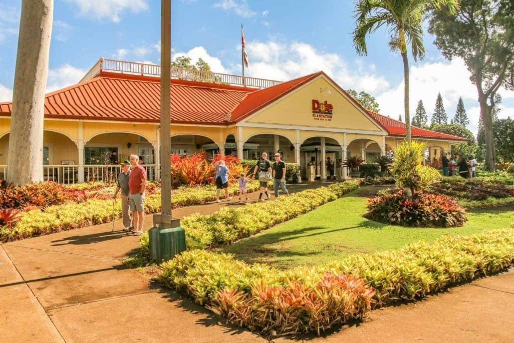 Walkway at Dole Plantation Entrance