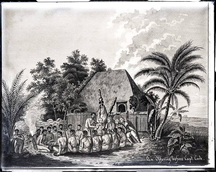 An Offering Before Captain Cook, from Brother GabrielBertramBellinghausen Collection
