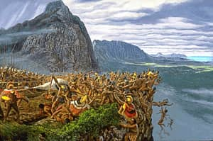 Battle of Nu'uanu by Herb Kawainui Kane_1