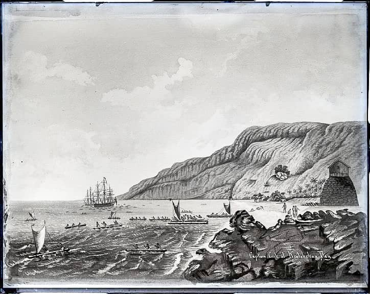 Captain Cook at Kealakekua Bay, byBrother GabrielBertramBellinghausen's