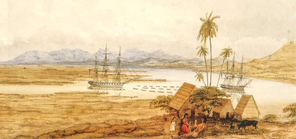 Entrance_to_the_Port_of_Honolooloo_in_the_Island_of_Wahoo,_One_of_the_Sandwich_Islands 1827_1