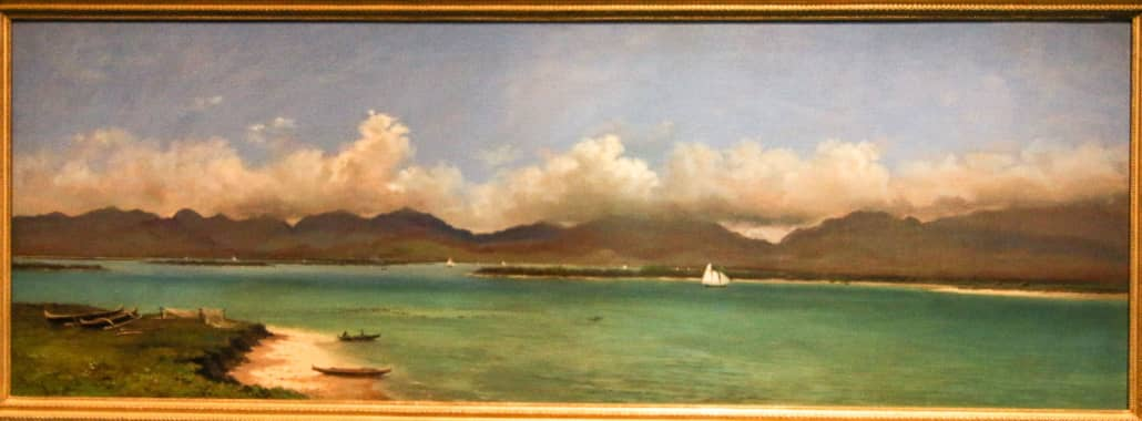 Pearl Harbor Early 1800's Painting at Bishop Museum