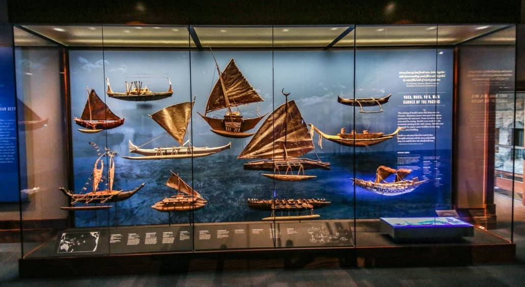 Voyaging Canoes of the Pacific Models at Bishop Museum