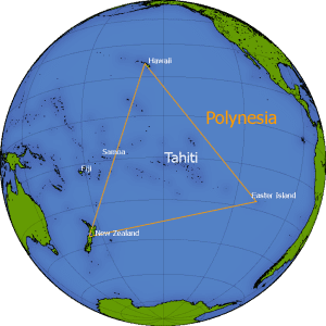 polynesian triangle world map