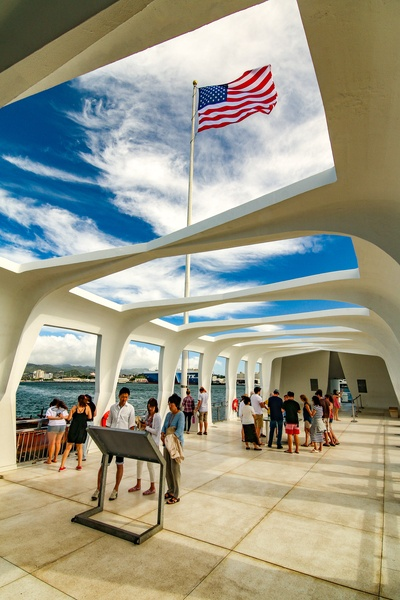 Arizona Memorial Deck and Flag