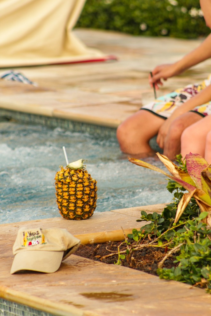 Pineapple Drink at Pool Four Seasons Maui
