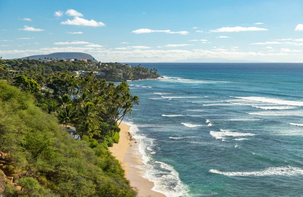 Beach and Surf Lookout near Honolulu Oahu