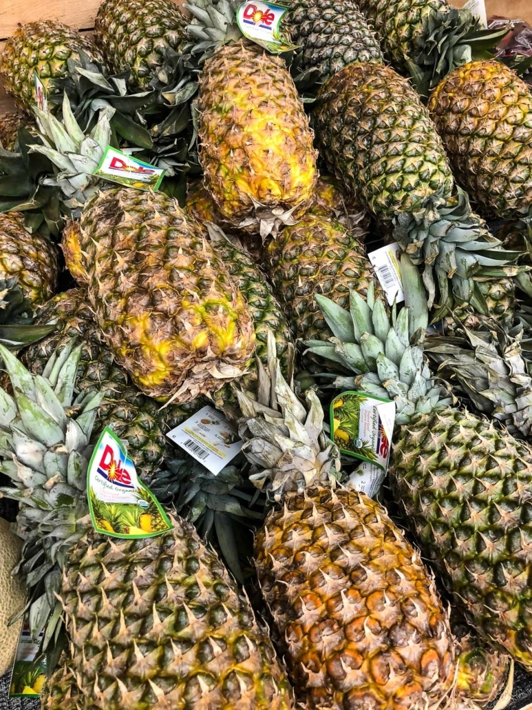 Dole pineapples in Store