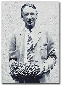 James Drummond Dole with Pineapple