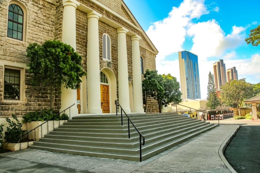 Kawaiahao Church Front Steps Honolulu