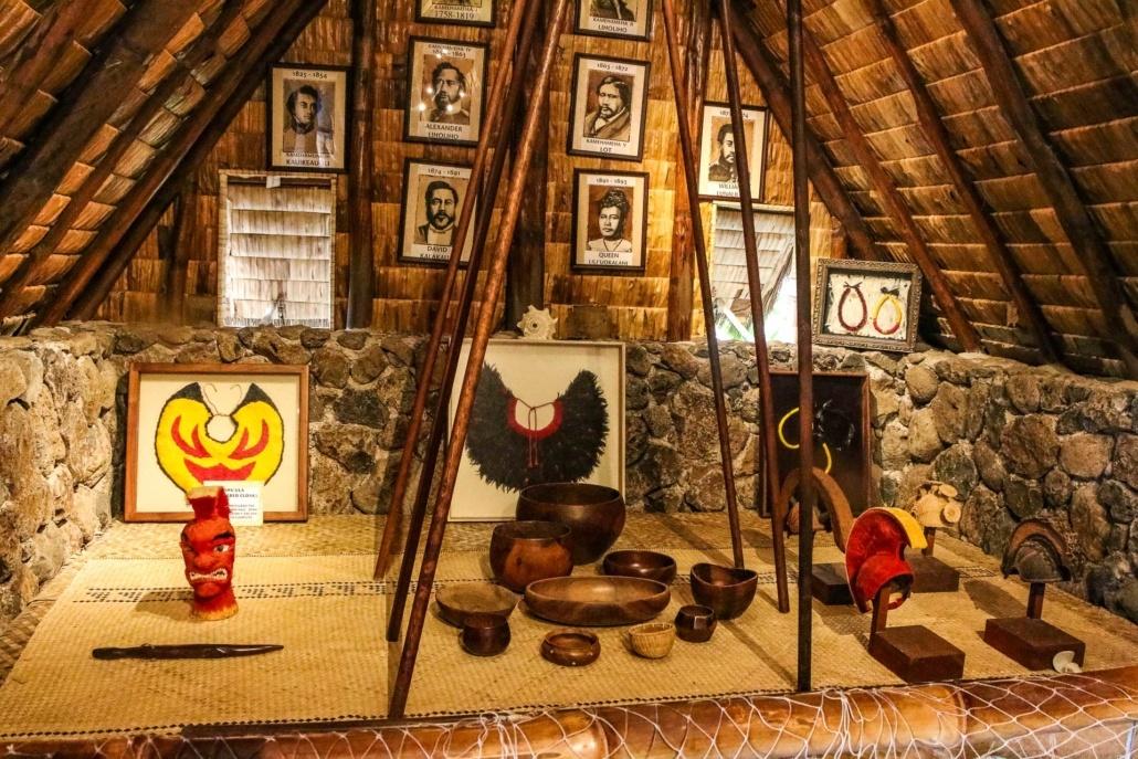 Hawaiian Village Hale Artifacts Monarchy