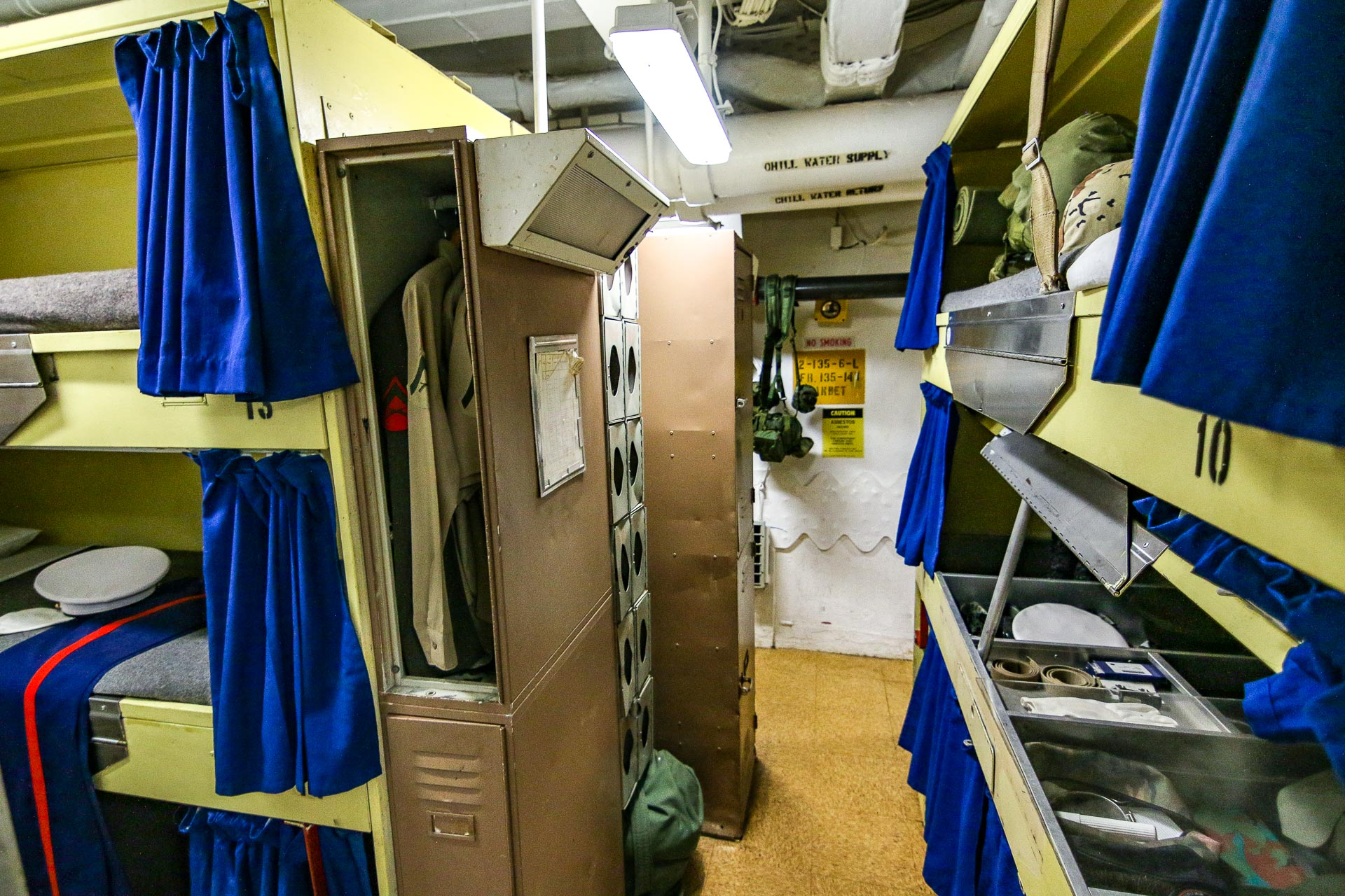 USS Missouri Interior Crews Room